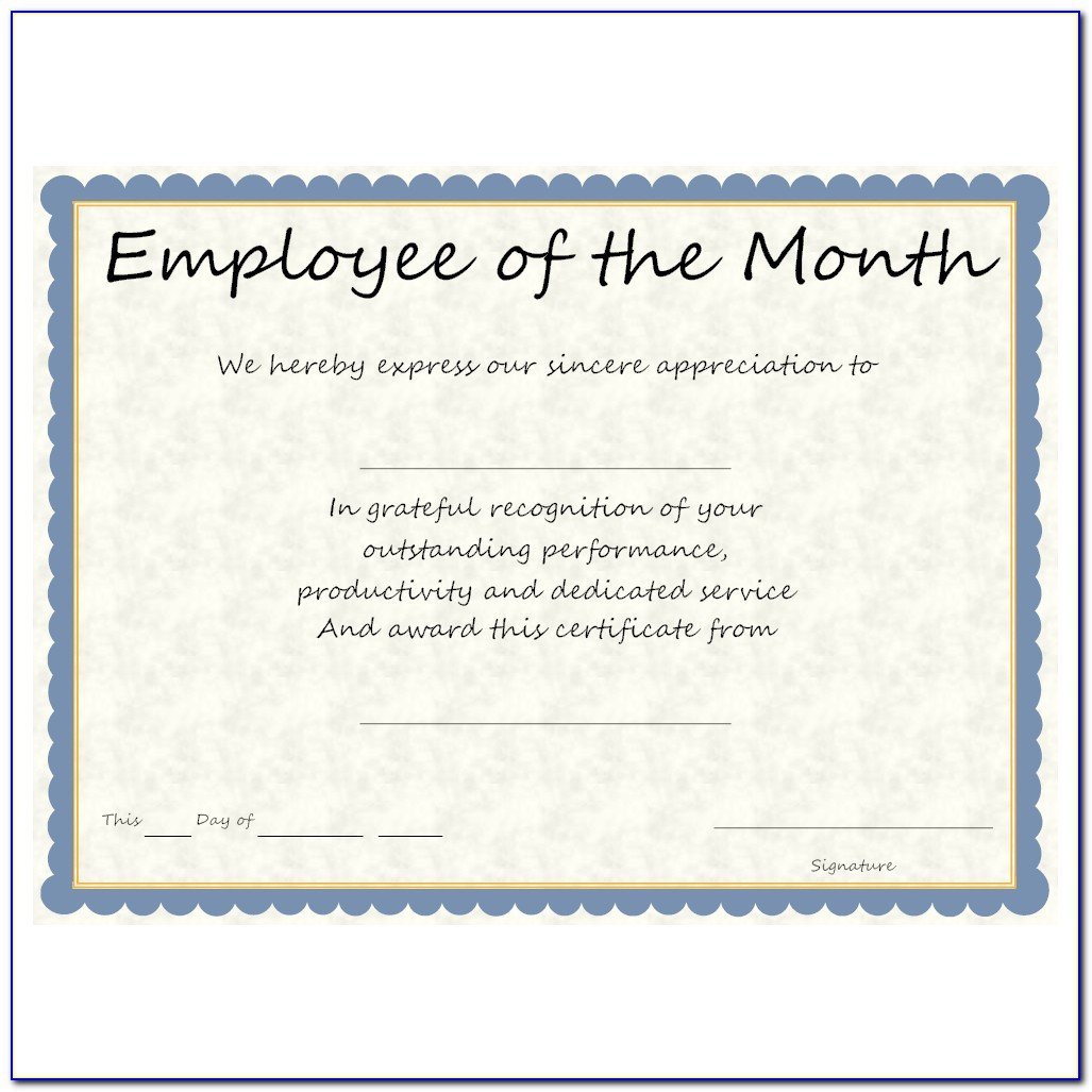 Employee Recognition Certificate Format