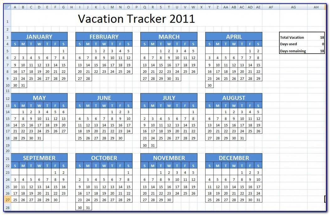 Employee Vacation Calendar Template 2014