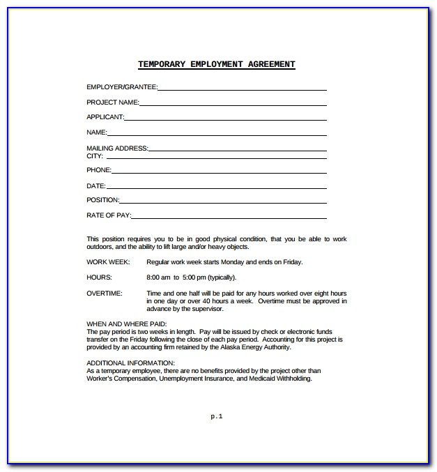 Employment Contract Sample Format Philippines