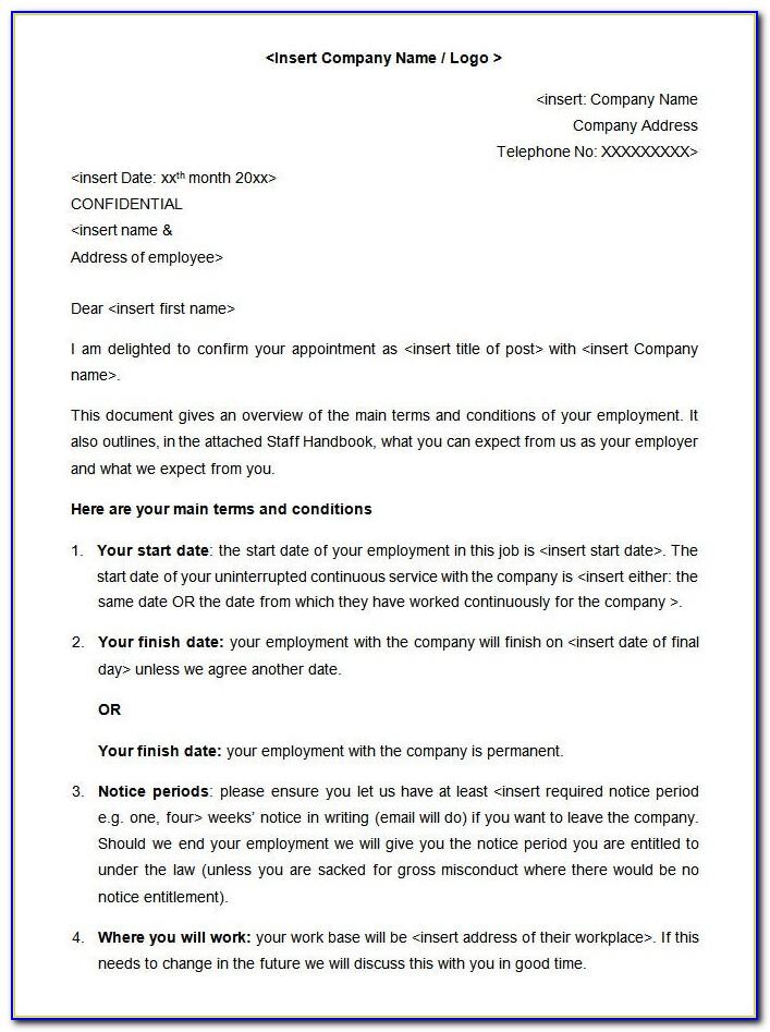 Employment Handbook Template Uk