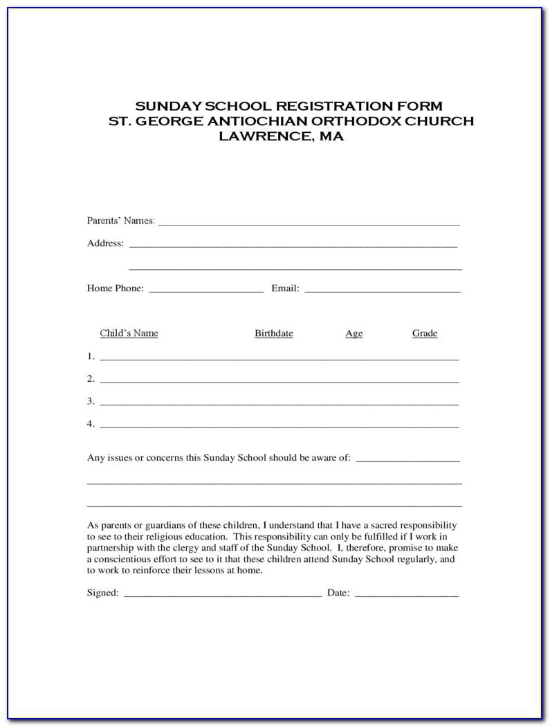 Enrollment Form Template Free