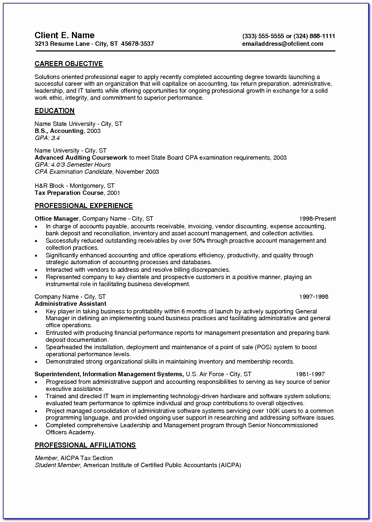 Entry Level Resume Samples Pdf