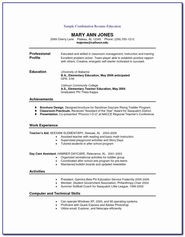 Entry Level Resume Templates Free