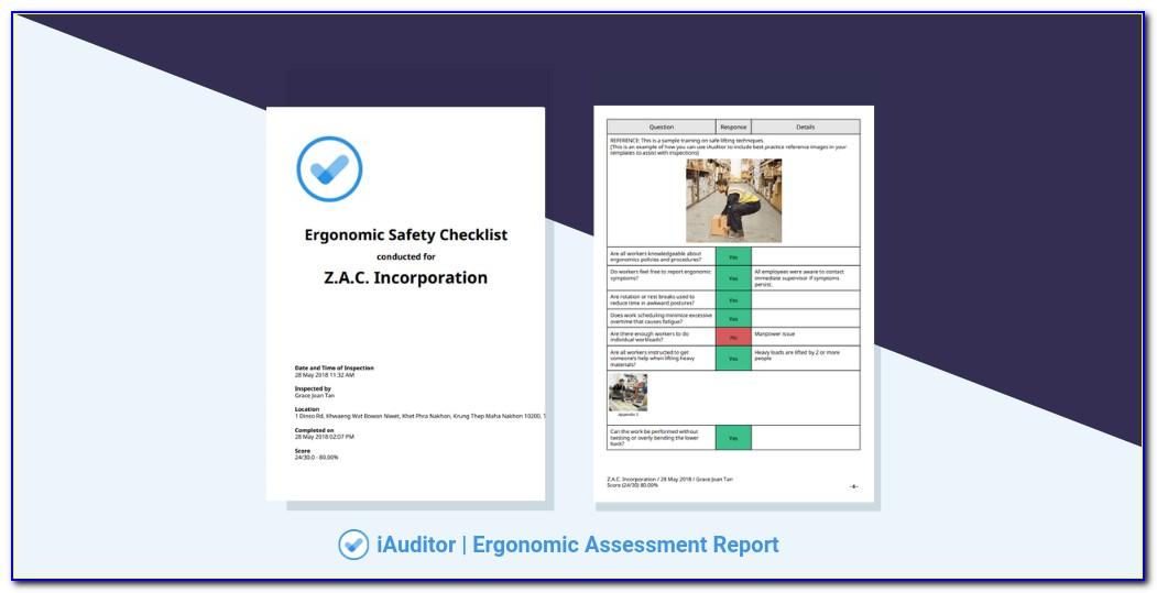 Ergonomic Risk Assessment Form