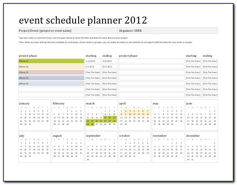 Event Calendar Planner Template