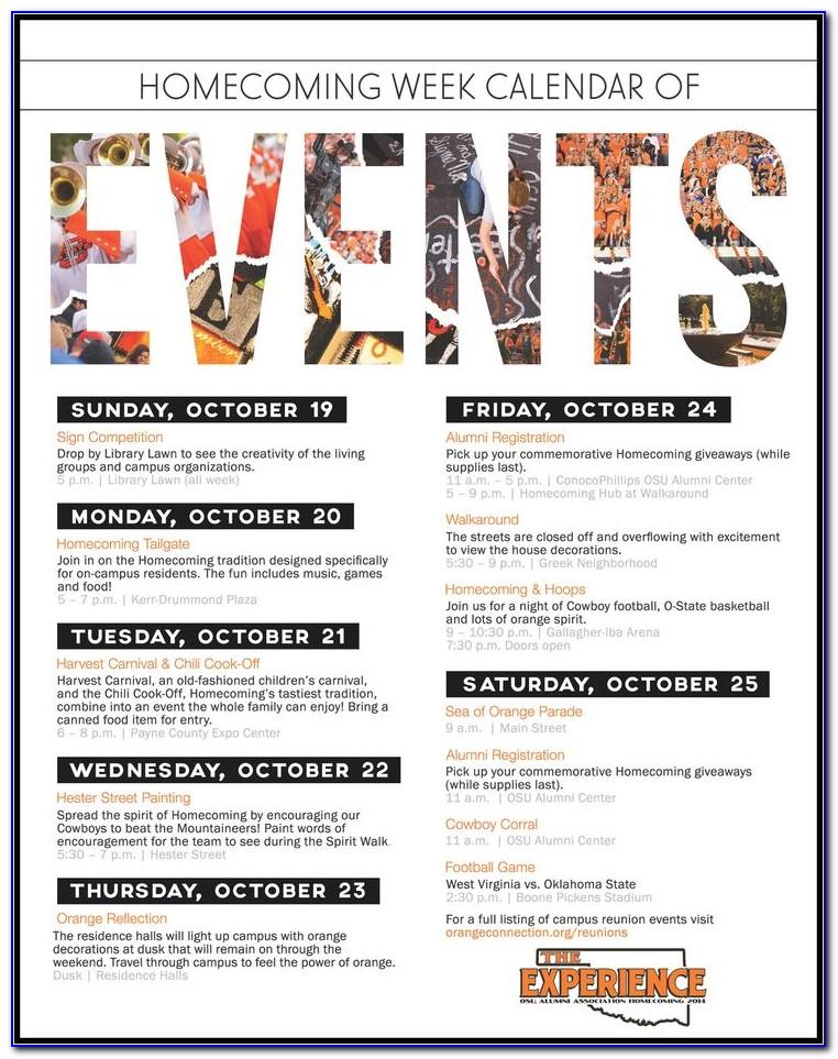 Event Calendar Poster Template