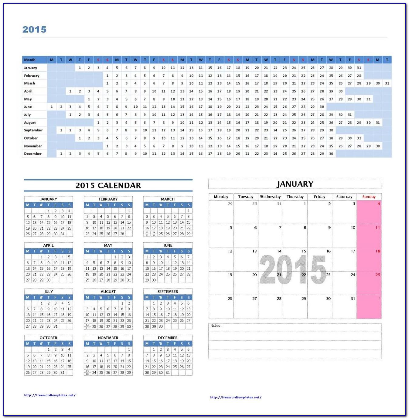 Event Calendar Template Excel