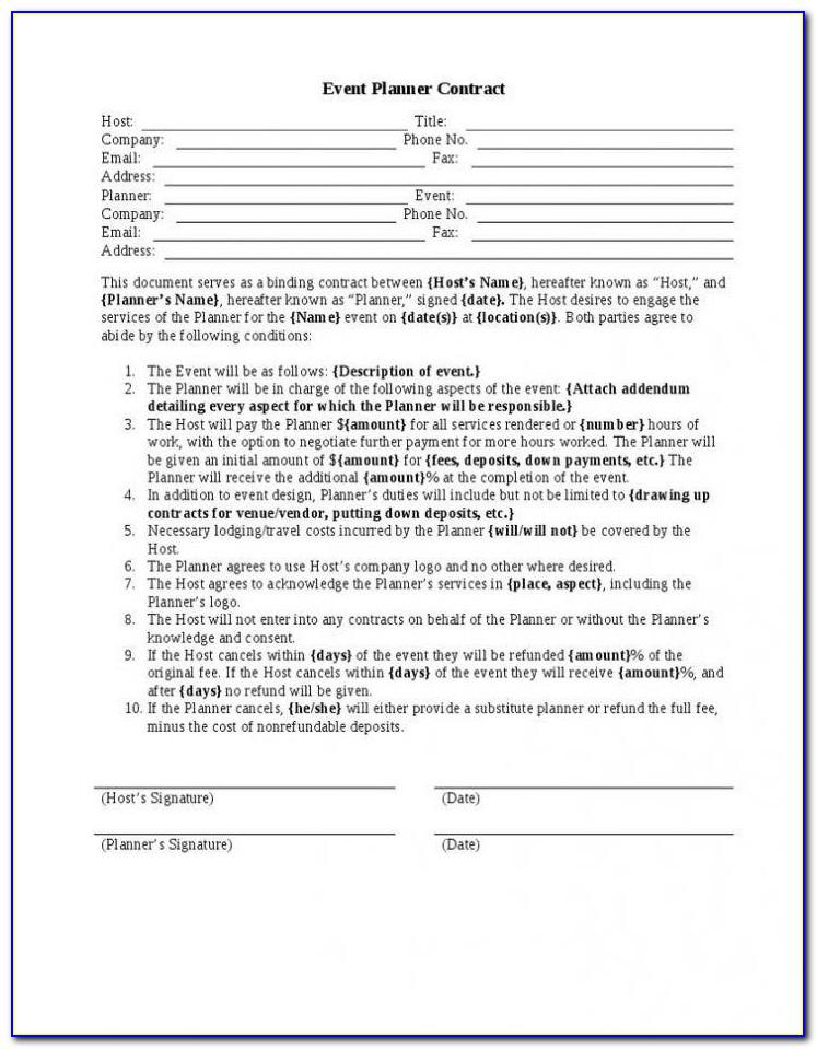 Event Planner Questionnaire Template