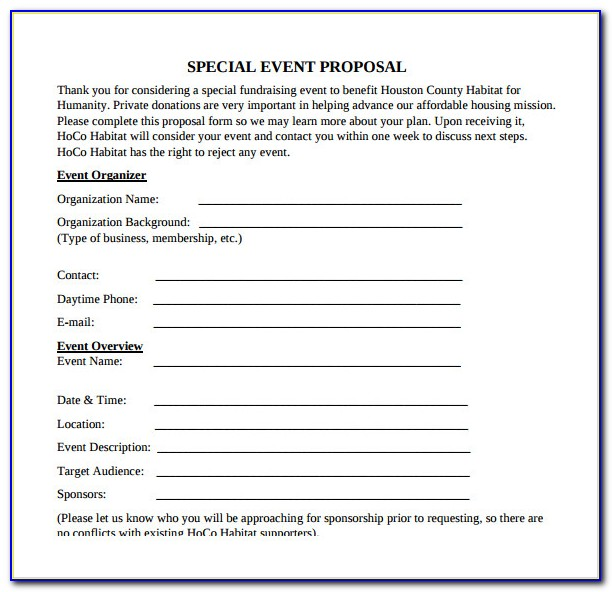 Event Planning Business Proposal Template Free