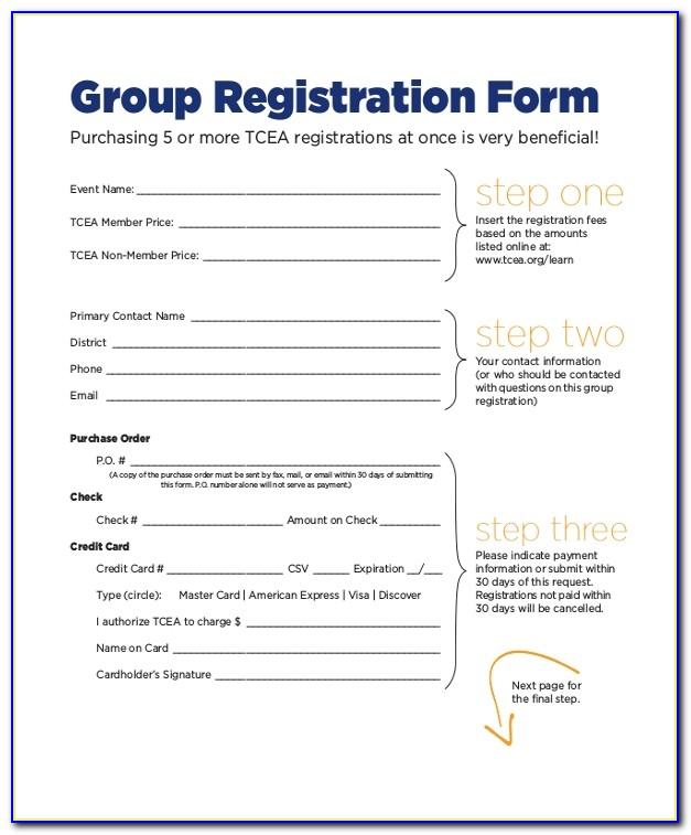 Event Registration Form Template Free Download