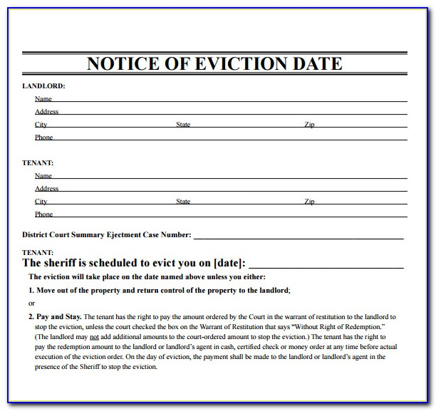 Eviction Notice Form Maryland