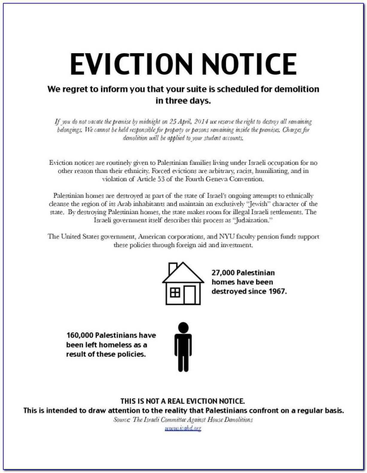 Eviction Notice Letter Pdf