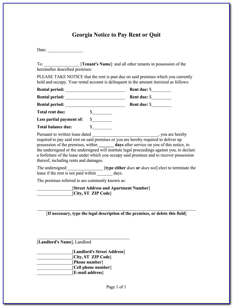 Eviction Notice Template In Texas