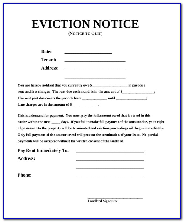 Eviction Notice Template South Africa