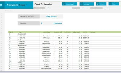 Excel Price Proposal Template