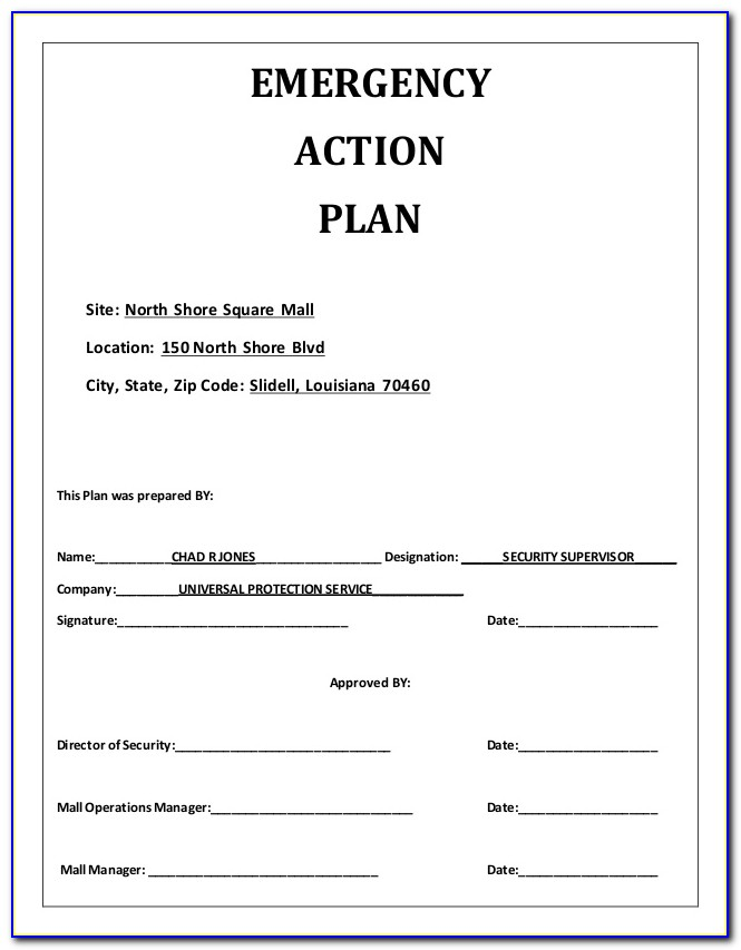 Family Emergency Communication Plan Template