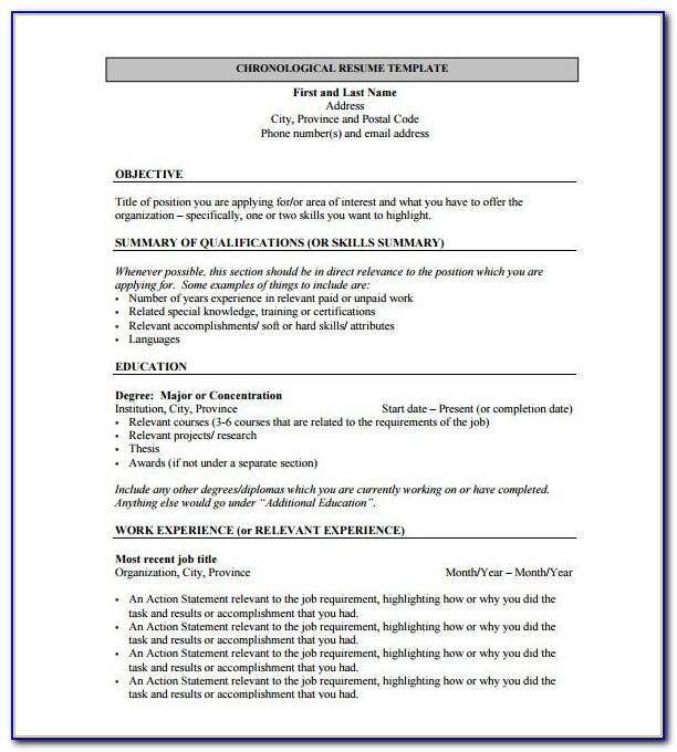 Free Download Resume Templates Pdf