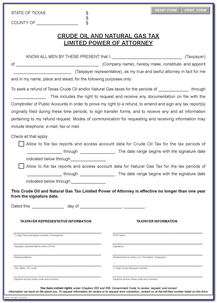 Free Durable Power Of Attorney Template Missouri