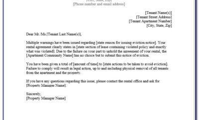 Free Eviction Notice Template Maryland