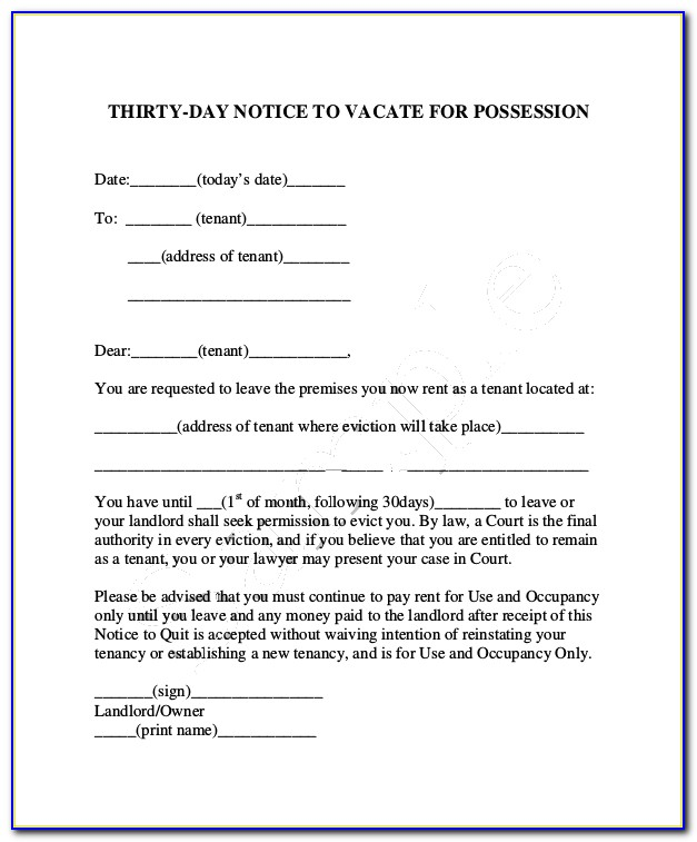 Free Maryland Eviction Notice Form