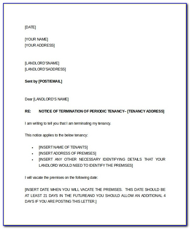 Notice Of End Of Employment Contract Sample Letter