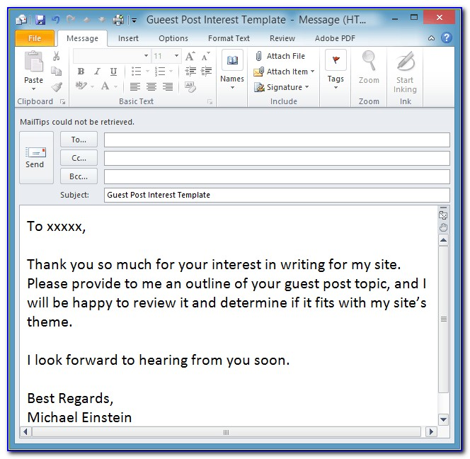 Outlook Email Signature Templates Download Free