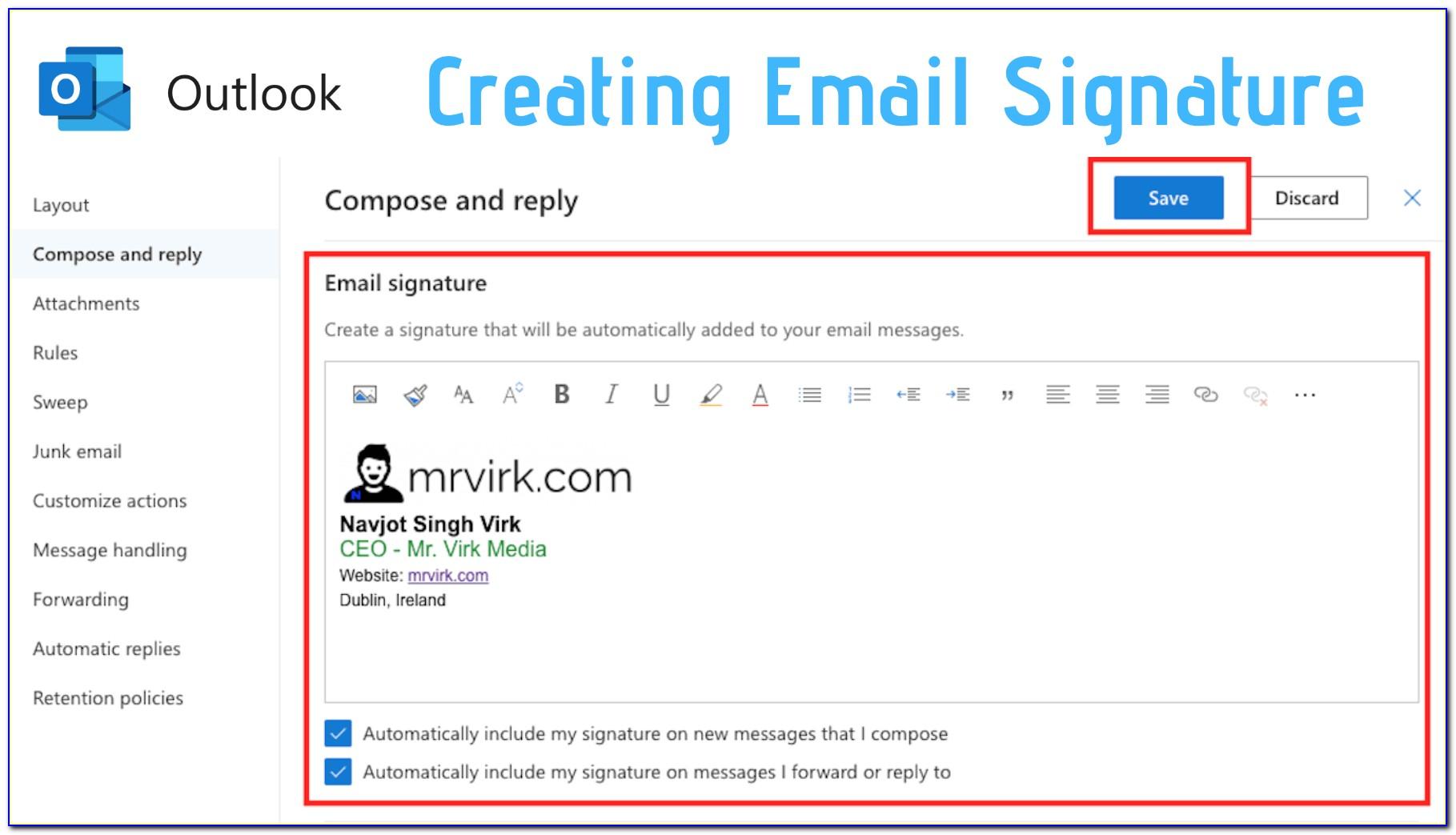 Professional Email Signature Free Templates