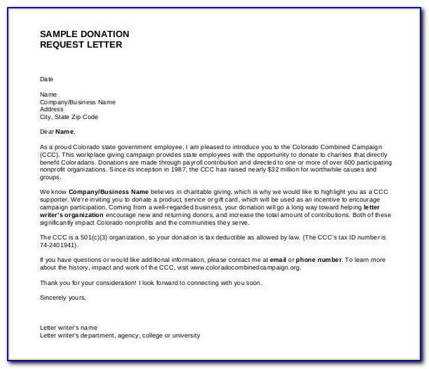 Sample Donation Request Letter For Sports Team Pdf
