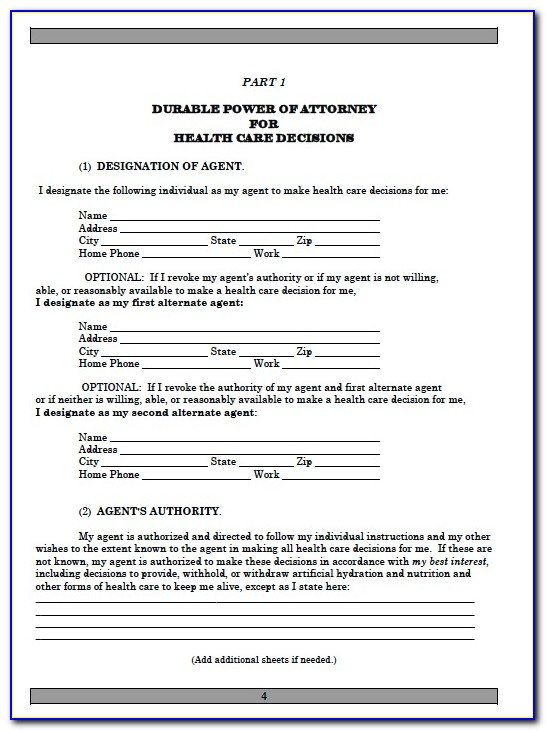 Sample Durable Power Of Attorney Michigan