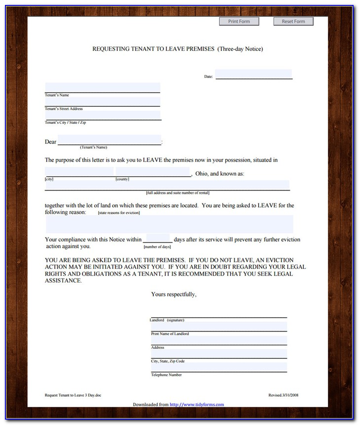Sample Eviction Notice Letter South Africa
