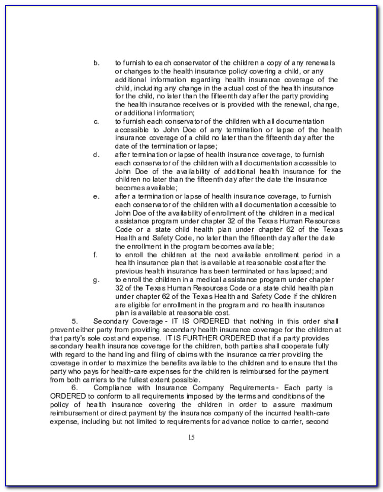 South African Divorce Agreement Template