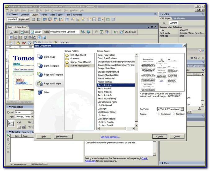 Website Templates Dreamweaver Cs3 Free Download