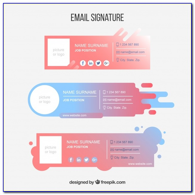 Best Email Signature Format For Outlook