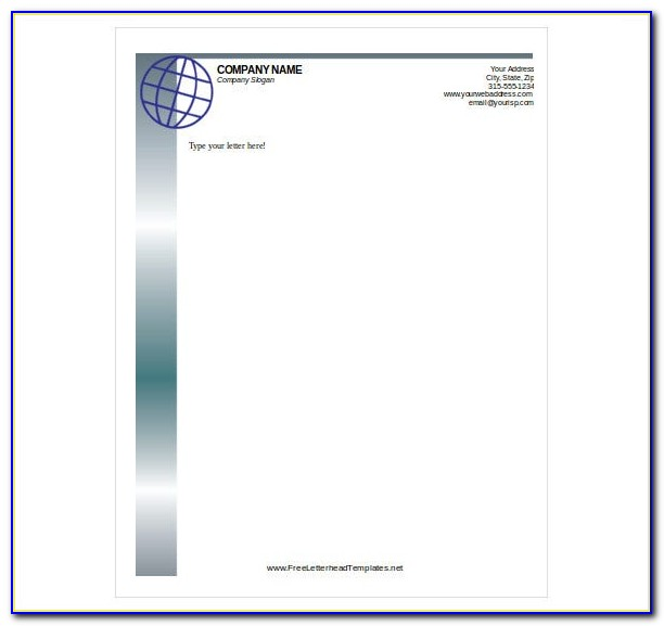 Business Letterhead Format Download