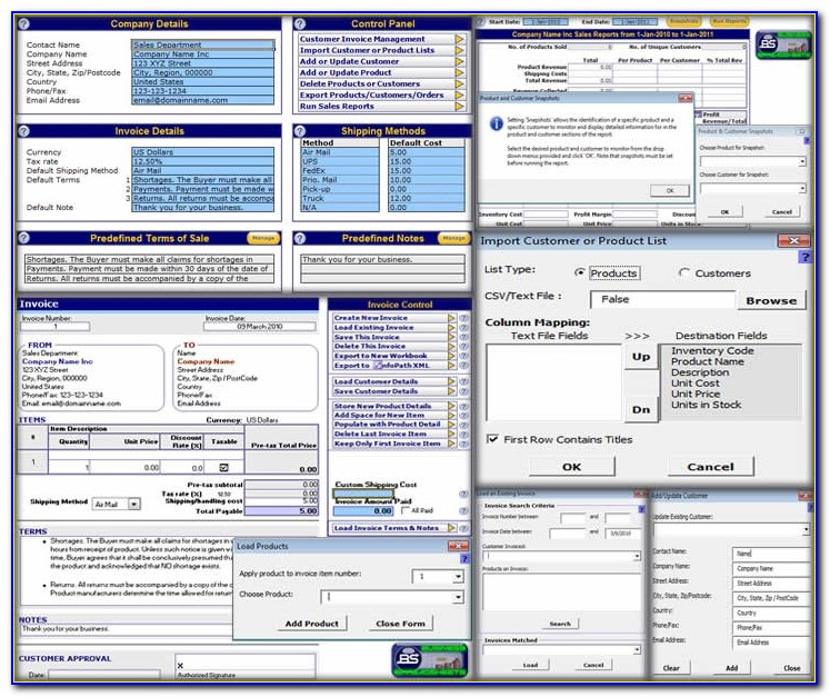 Client Data Excel Template
