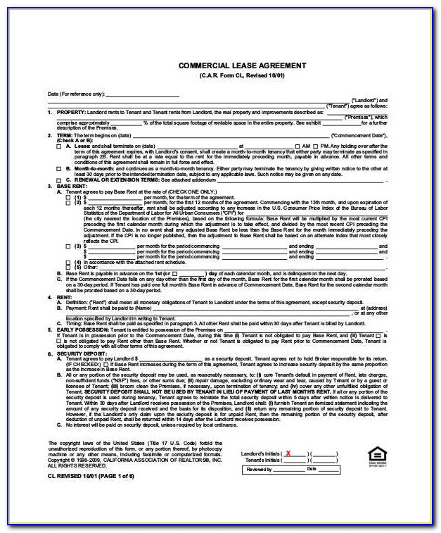 Commercial Property Lease Agreement Pdf