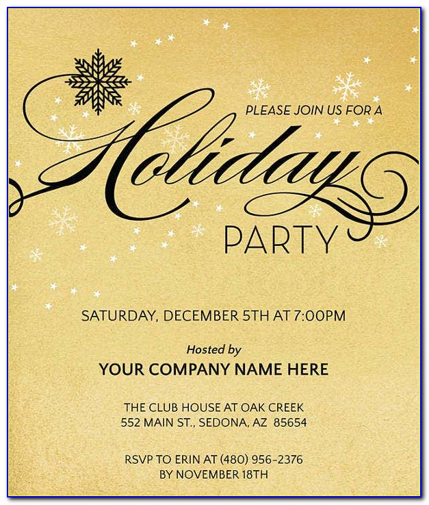 Company Christmas Dinner Invitation Template