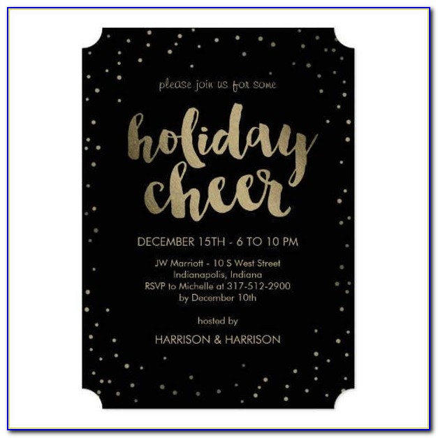 Company Christmas Party Invitation Templates