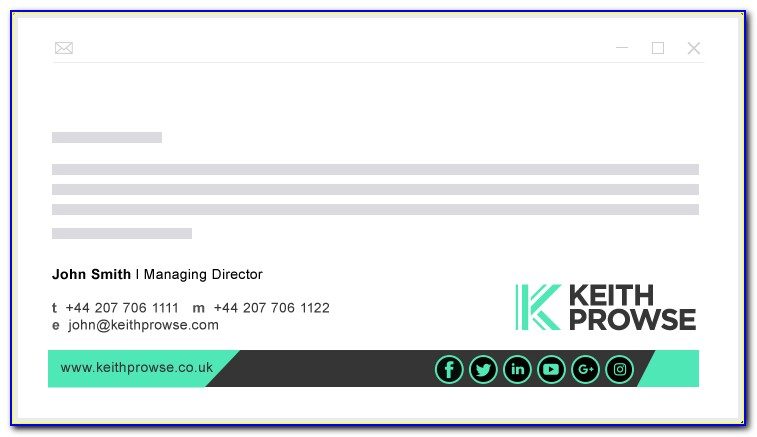 Company Email Signature Examples