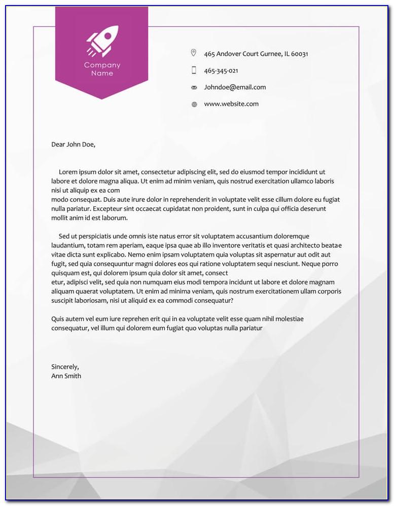 Company Letterhead Format Doc