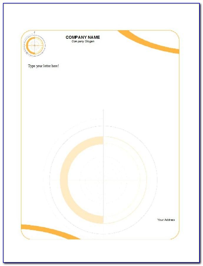 Company Letterhead Format Pdf