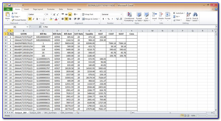 Consolidated Financial Statements Example In Excel