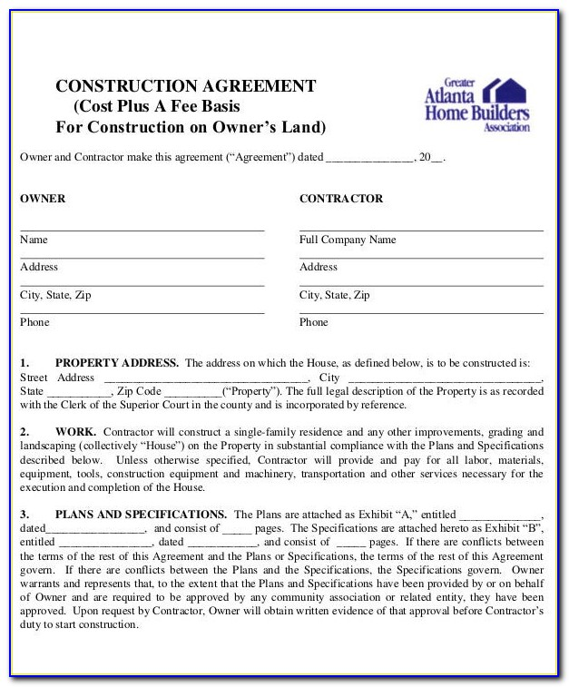 Construction Contract Agreement Sample Philippines