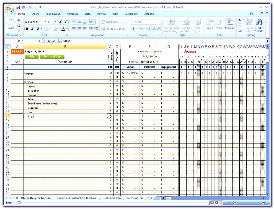 Construction Project Progress Report Template Excel