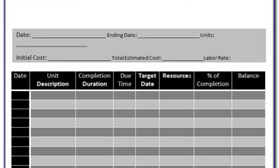 Construction Schedule Template Residential Excel Workbook Template