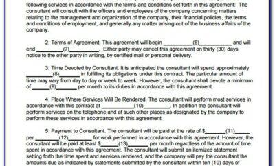 Consultancy Agreement Example Uk
