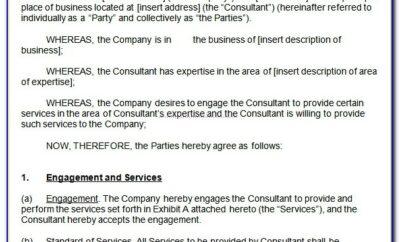Consultancy Agreement Template Australia