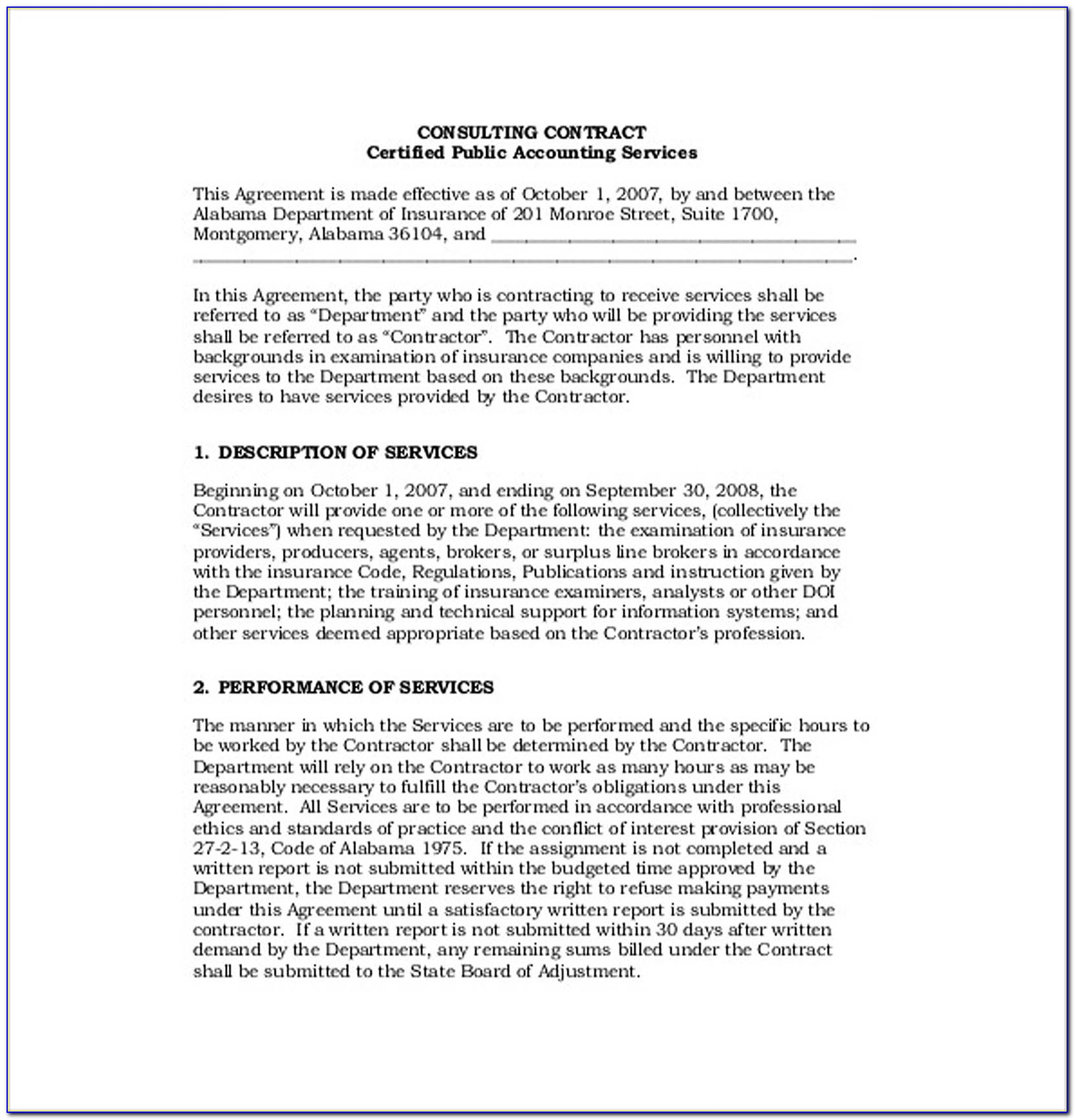 Consultancy Agreement Template Free Uk