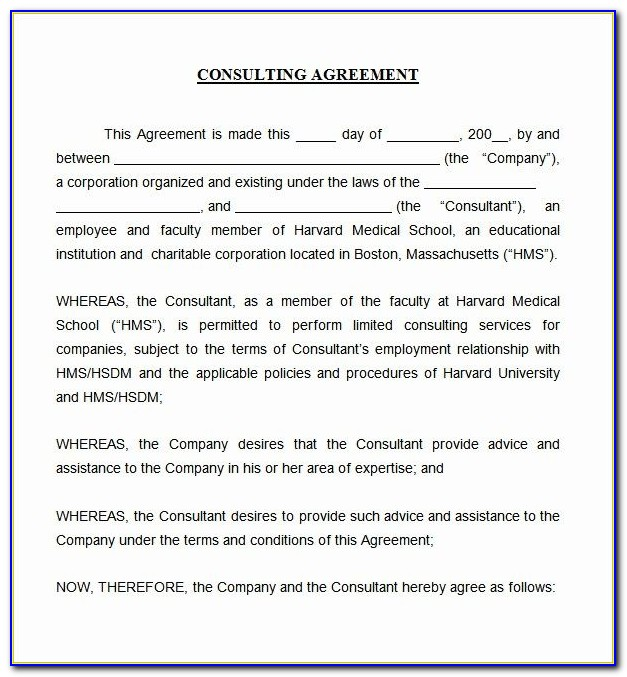 Consultancy Agreement Template Free