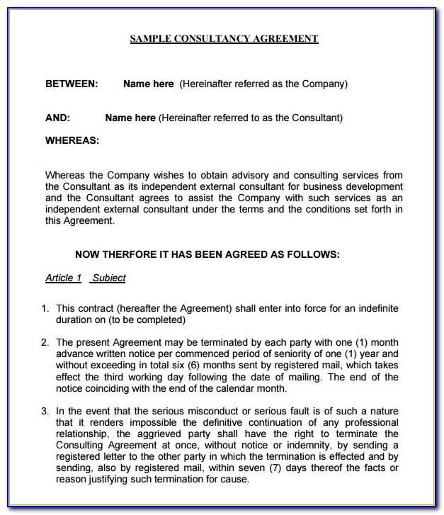 Consultancy Agreement Template Hong Kong